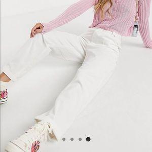 White Lightweight Mom Jeans